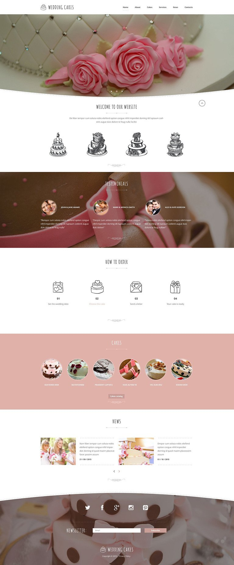Wedding Cake Co Website Template New Screenshots BIG