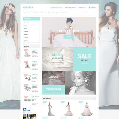 Wedding  - Magento Template based on Bootstrap