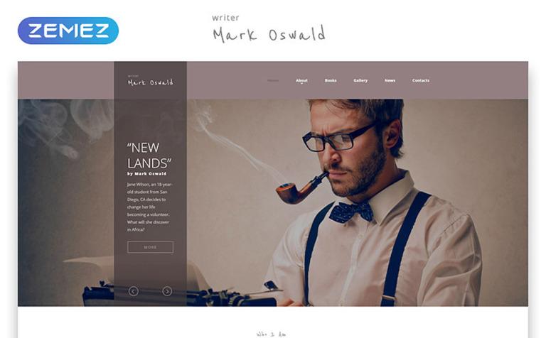Writer Website Template