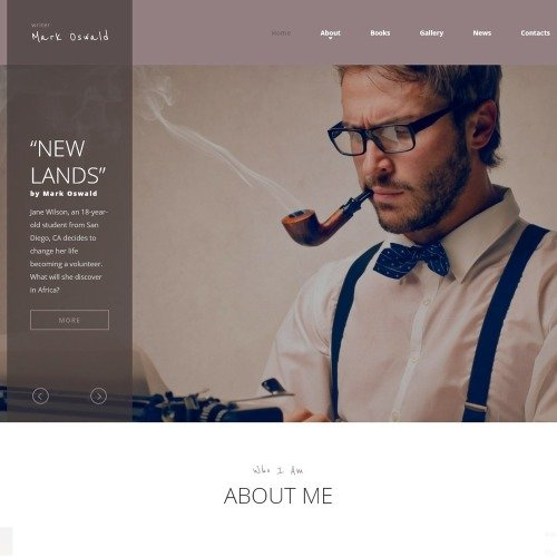 Mark Oswald - Responsive Website Template