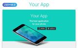 """""""Your App - Software Minimal HTML"""" modèle  de page d'atterrissage adaptatif"""