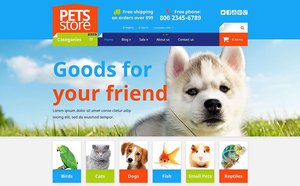 Responzivní Shopify motiv na téma Obchod pro zvířata New Screenshots BIG