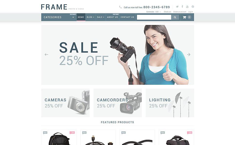 Responsywny szablon Shopify #54005 na temat: sklep wideo New Screenshots BIG