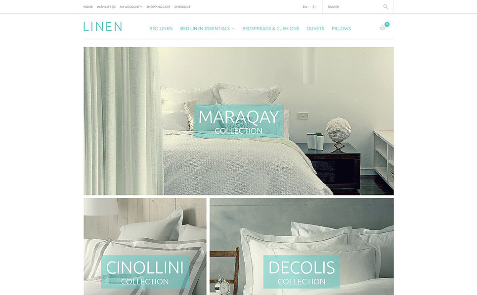 Responsive OpenCart Template over Linnengoed & Kant New Screenshots BIG
