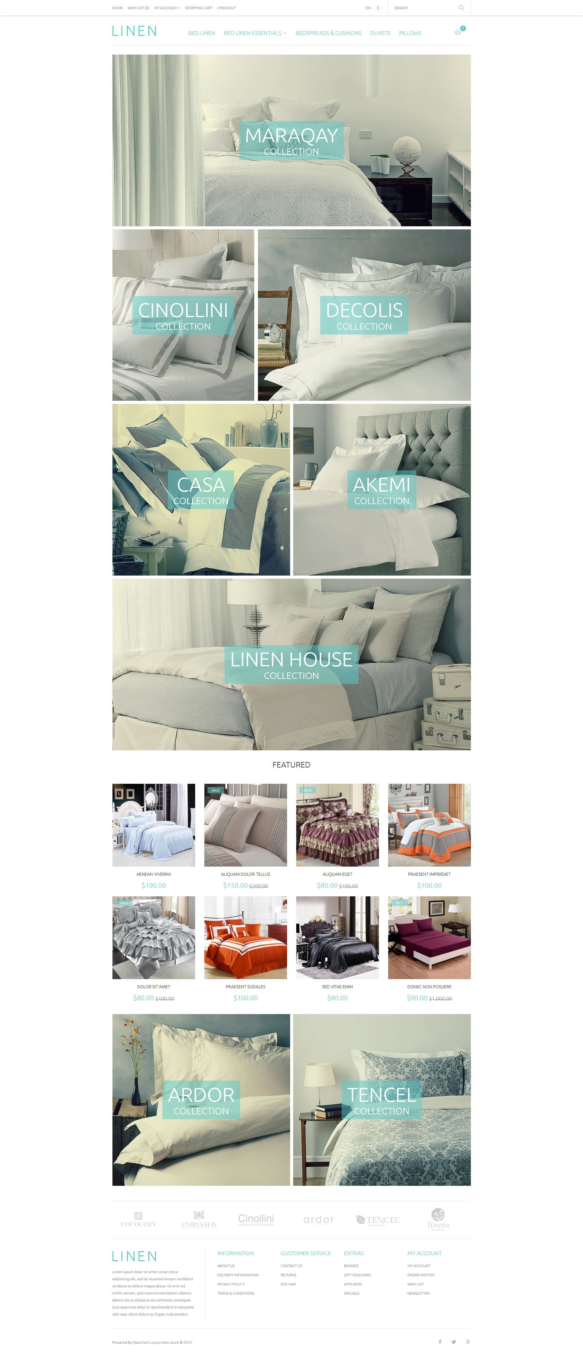 The Luxlinen Luxury Bed OpenCart Design 54006, one of the best OpenCart templates of its kind (fashion, most popular), also known as luxlinen luxury bed OpenCart template, linen OpenCart template, duvet OpenCart template, covers OpenCart template, pillars OpenCart template, bedding OpenCart template, kitchen OpenCart template, bath OpenCart template, brand OpenCart template, silk OpenCart template, wool OpenCart template, syntetic and related with luxlinen luxury bed, linen, duvet, covers, pillars, bedding, kitchen, bath, brand, silk, wool, syntetic, etc.