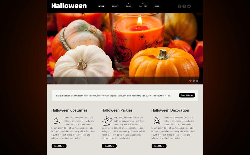 Reszponzív Halloween témakörű  Weboldal sablon New Screenshots BIG