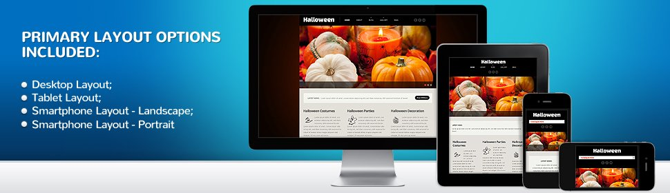 halloween website template 54013 website templates zeronese
