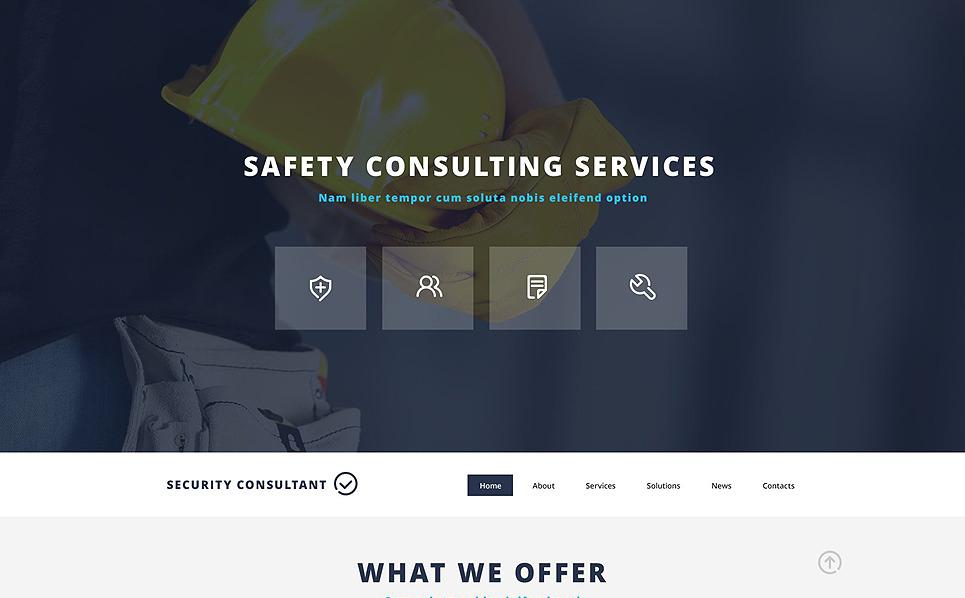 Responsive Website template over Beveiliging New Screenshots BIG