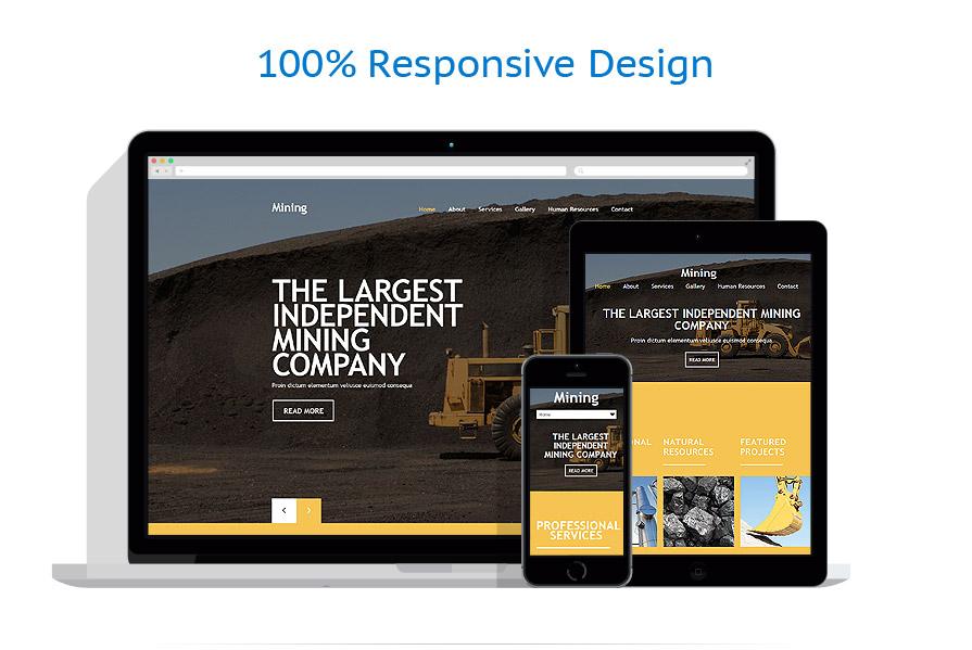 Modèles HTML5 Industriel #54019