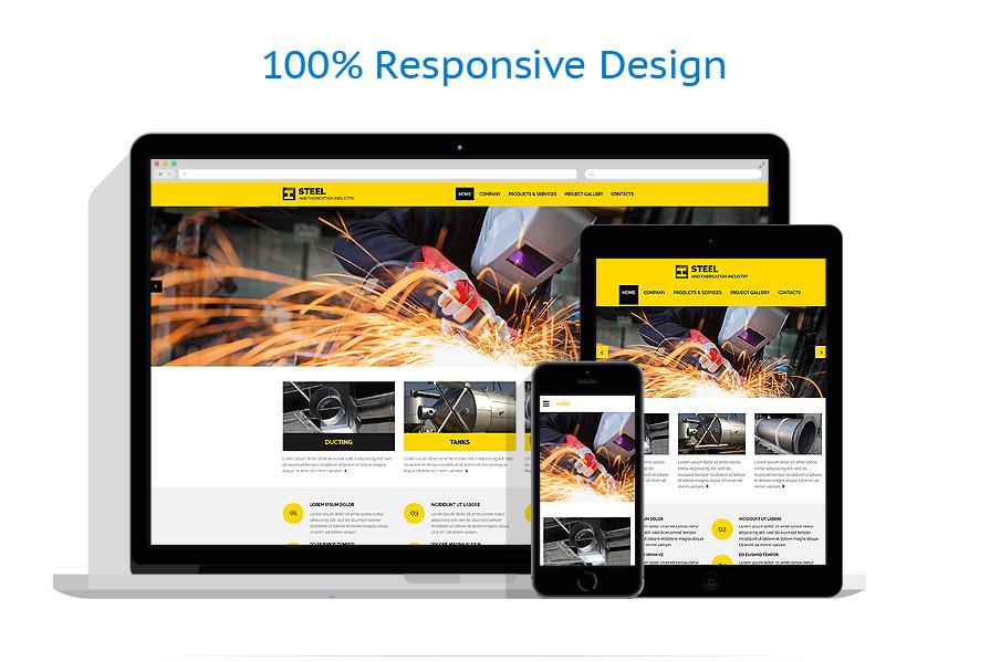 Modèles HTML5 Industriel #54021