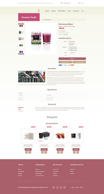 ADOBE Photoshop Template 54024 Home Page Screenshot