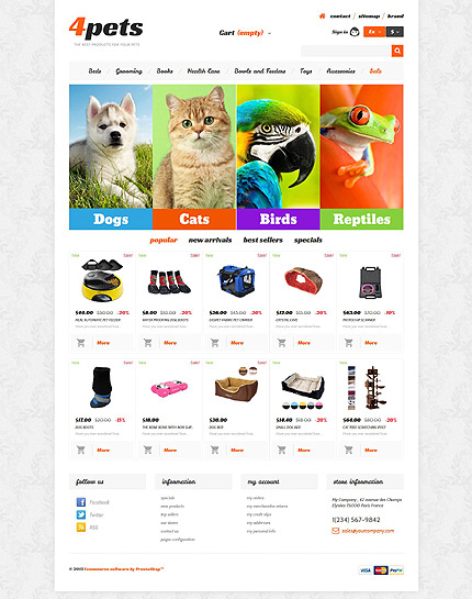 ADOBE Photoshop Template 54028 Home Page Screenshot