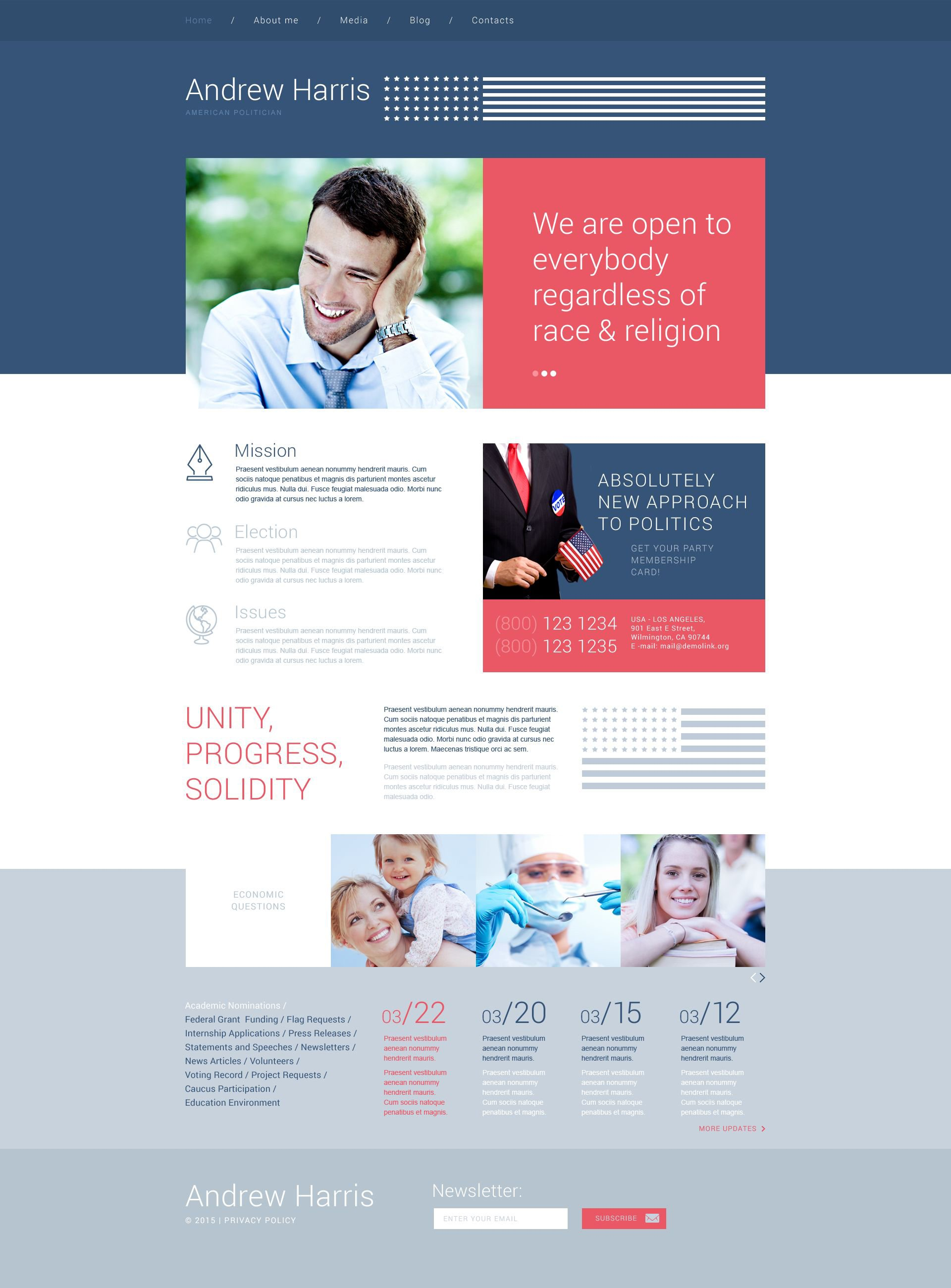 The Andrew Harris Politician WordPress Design 54033, one of the best WordPress themes of its kind (wedding, most popular), also known as Andrew Harris politician WordPress template, political organization WordPress template, leader WordPress template, chairman WordPress template, campaign WordPress template, constitution WordPress template, member WordPress template, principles WordPress template, information WordPress template, donation WordPress template, platform WordPress template, flag WordPress template, candidates WordPress template, debates WordPress template, structure WordPress template, election WordPress template, program WordPress template, priority and related with Andrew Harris politician, political organization, leader, chairman, campaign, constitution, member, principles, information, donation, platform, flag, candidates, debates, structure, election, program, priority, etc.