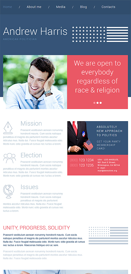 WordPress Theme/Template 54033 Main Page Screenshot