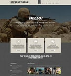 Military WordPress Template 54035