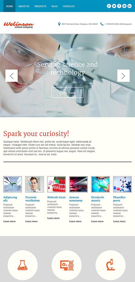 WordPress Theme/Template 54046 Main Page Screenshot