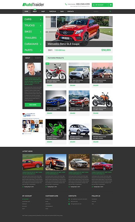 ADOBE Photoshop Template 54047 Home Page Screenshot