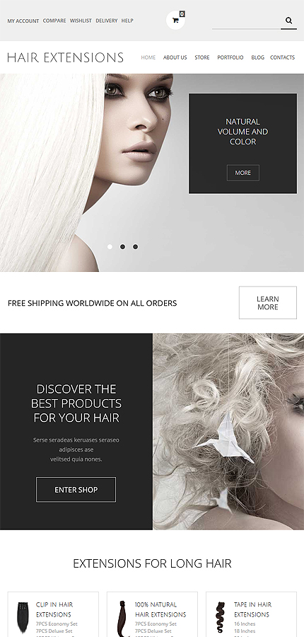 ADOBE Photoshop Template 54053 Home Page Screenshot