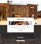 Cafe & Restaurant Website  Template 54057