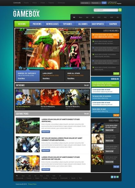 ADOBE Photoshop Template 54058 Home Page Screenshot