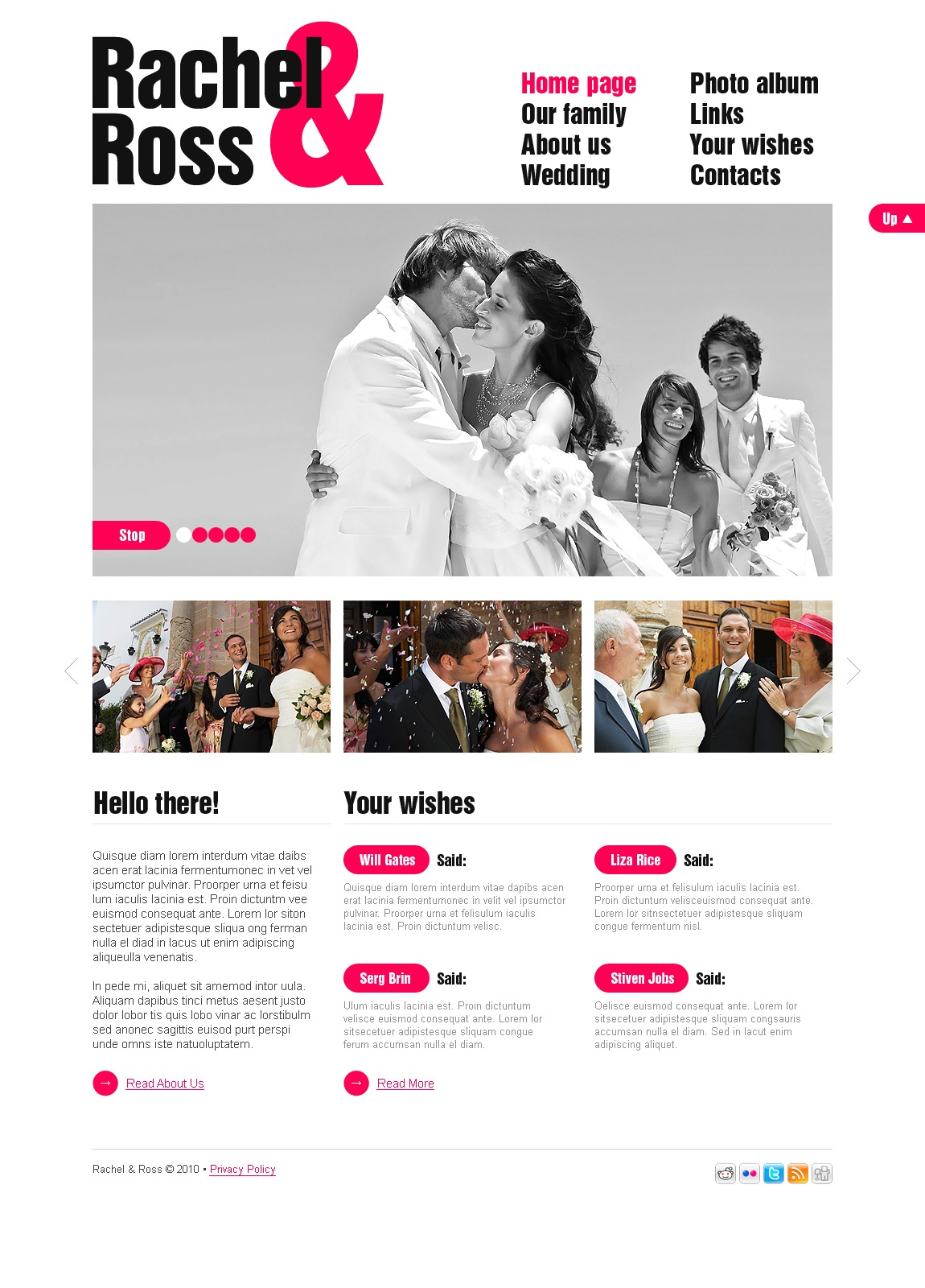 The Rachel Ross Wedding PSD Design 54059, one of the best PSD templates of its kind (wedding, most popular, wide, jquery), also known as Rachel Ross wedding PSD template, album PSD template, page PSD template, photos PSD template, gallery PSD template, husband PSD template, wife PSD template, history PSD template, first PSD template, dating PSD template, engagement PSD template, bride PSD template, groom PSD template, family PSD template, ceremony PSD template, rings PSD template, flowers PSD template, guestbook PSD template, baby PSD template, friends PSD template, happiness PSD template, love PSD template, heart PSD template, couple PSD template, partners PSD template, veil PSD template, success PSD template, lover PSD template, dress PSD template, sweetheart PSD template, honey PSD template, moon PSD template, marriage and related with Rachel Ross wedding, album, page, photos, gallery, husband, wife, history, first, dating, engagement, bride, groom, family, ceremony, rings, flowers, guestbook, baby, friends, happiness, love, heart, couple, partners, veil, success, lover, dress, sweetheart, honey, moon, marriage, etc.