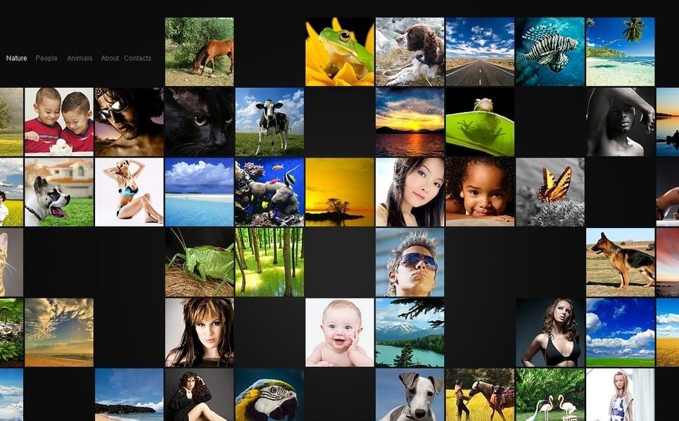 PSD Vorlage für Fotografen Portfolio  New Screenshots BIG