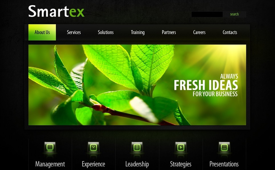 Szablon PSD #54064 na temat: biznes i usługi New Screenshots BIG