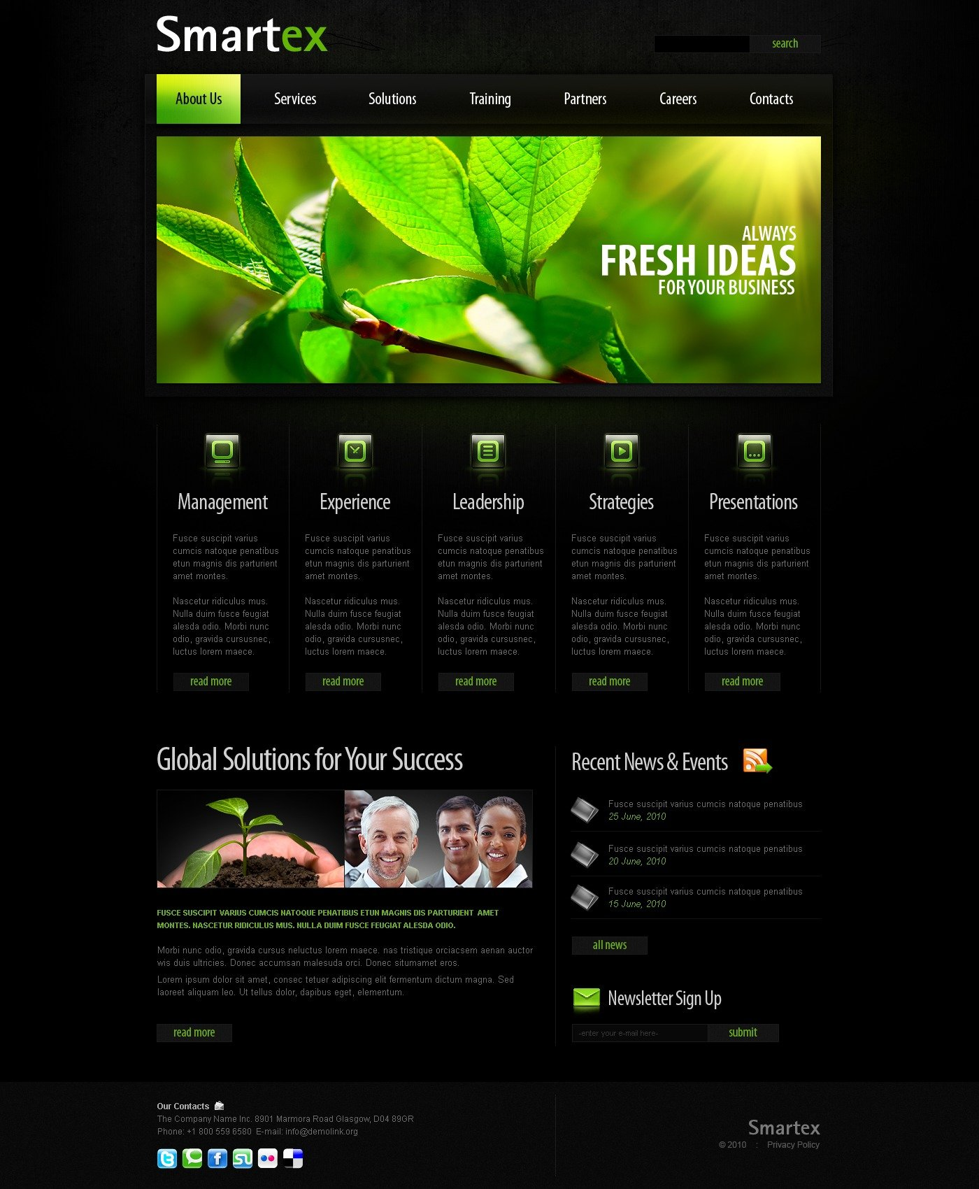The Smartex Business Company PSD Design 54064, one of the best PSD templates of its kind (business, wide, black), also known as smartex business company PSD template, corporate solutions PSD template, innovations PSD template, contacts PSD template, service PSD template, support PSD template, information dealer PSD template, stocks PSD template, team PSD template, success PSD template, money PSD template, marketing PSD template, director PSD template, manager PSD template, analytics PSD template, planning PSD template, limited PSD template, office PSD template, sales and related with smartex business company, corporate solutions, innovations, contacts, service, support, information dealer, stocks, team, success, money, marketing, director, manager, analytics, planning, limited, office, sales, etc.