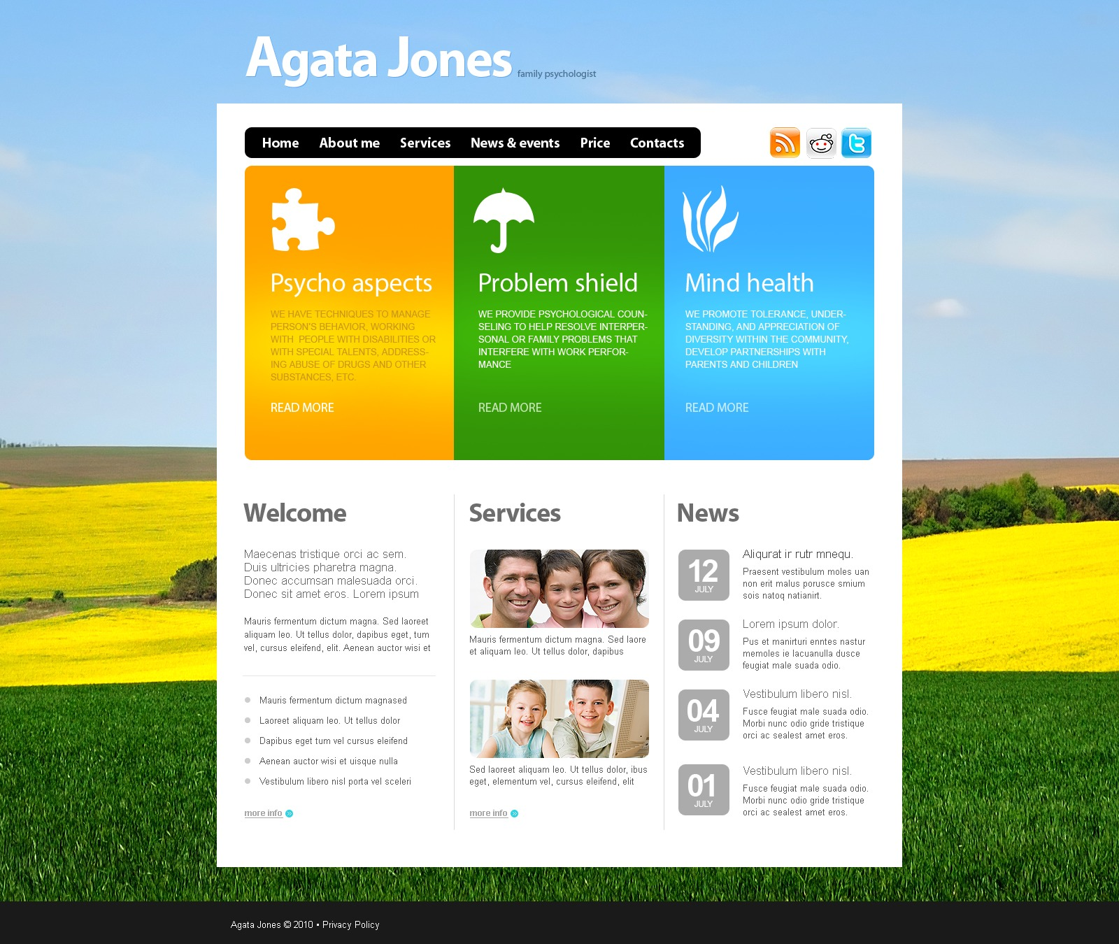 The Agata Jones Family PSD Design 54065, one of the best PSD templates of its kind (family, medical, wide), also known as Agata Jones family PSD template, psychologist PSD template, psychological PSD template, psychology PSD template, private mental PSD template, stress PSD template, anxiety PSD template, disorder PSD template, mood PSD template, trauma PSD template, abuse PSD template, health PSD template, private illness PSD template, specialist PSD template, confidentiality and related with Agata Jones family, psychologist, psychological, psychology, private mental, stress, anxiety, disorder, mood, trauma, abuse, health, private illness, specialist, confidentiality, etc.