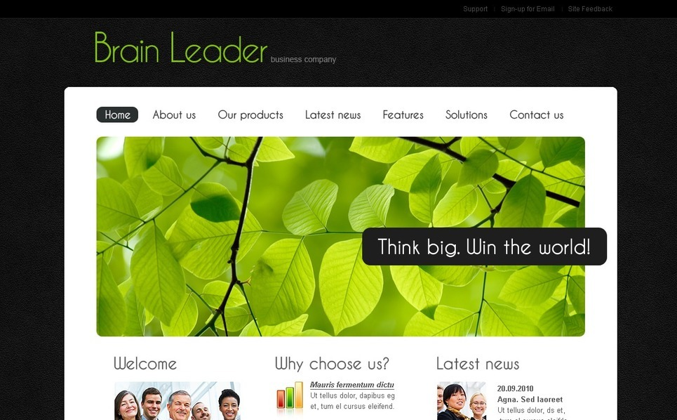 Szablon PSD #54066 na temat: biznes i usługi New Screenshots BIG