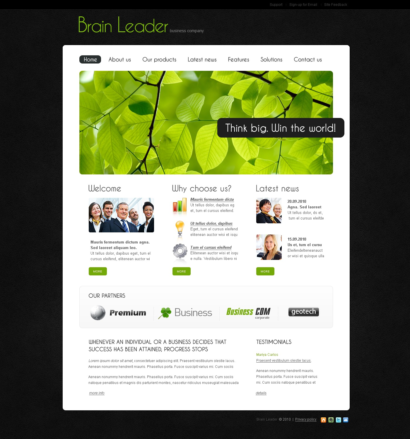 The Brain Leader Business Company PSD Design 54066, one of the best PSD templates of its kind (business, wide), also known as Brain Leader business company PSD template, corporate solutions PSD template, innovations PSD template, contacts PSD template, service PSD template, support PSD template, information dealer PSD template, stocks PSD template, team PSD template, success PSD template, money PSD template, marketing PSD template, director PSD template, manager PSD template, analytics PSD template, planning PSD template, limited PSD template, office PSD template, sales and related with Brain Leader business company, corporate solutions, innovations, contacts, service, support, information dealer, stocks, team, success, money, marketing, director, manager, analytics, planning, limited, office, sales, etc.