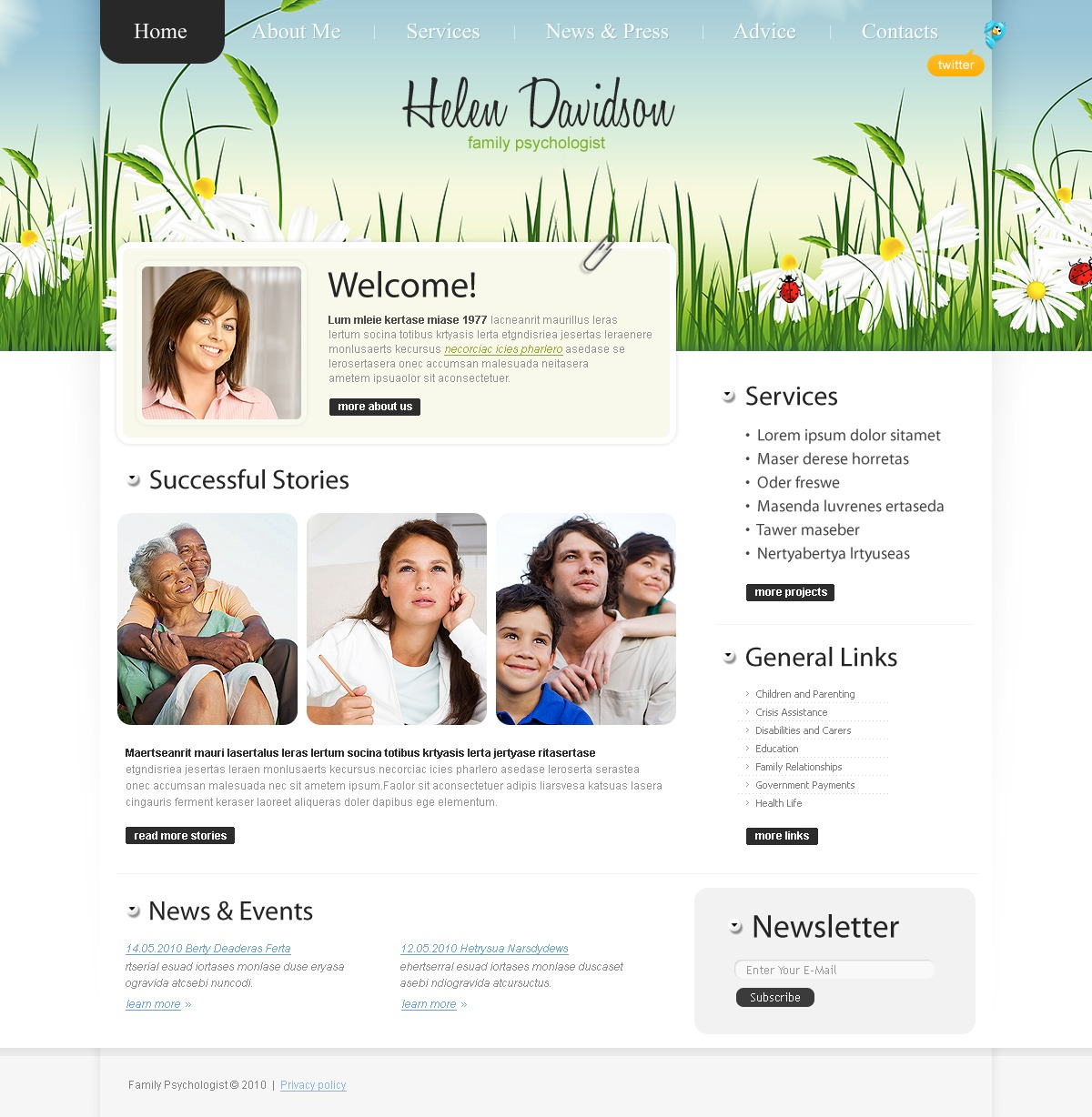 The Helen Davidson Family PSD Design 54068, one of the best PSD templates of its kind (family, medical, wide), also known as Helen Davidson family PSD template, psychologist PSD template, psychological PSD template, psycology PSD template, private mental PSD template, stress PSD template, anxiety PSD template, disorder PSD template, mood PSD template, trauma PSD template, abuse PSD template, health PSD template, private illness PSD template, specialist PSD template, confidentiality and related with Helen Davidson family, psychologist, psychological, psycology, private mental, stress, anxiety, disorder, mood, trauma, abuse, health, private illness, specialist, confidentiality, etc.