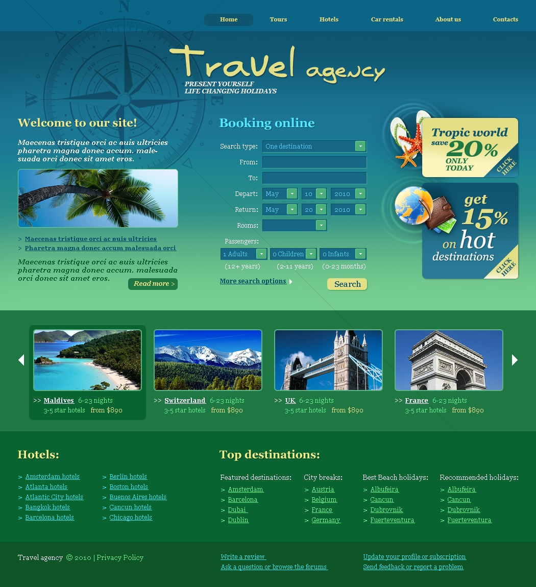 The Travel Agency PSD Design 54069, one of the best PSD templates of its kind (travel, wide, jquery), also known as travel agency PSD template, compass PSD template, tour country PSD template, resort PSD template, spa PSD template, flight hotel PSD template, car PSD template, rental PSD template, cruise PSD template, sights PSD template, reservation PSD template, location PSD template, authorization PSD template, ticket PSD template, guide PSD template, beach PSD template, sea PSD template, relaxation PSD template, recreation PSD template, impression PSD template, air PSD template, liner PSD template, traveling PSD template, apartment PSD template, vacation PSD template, rest PSD template, comfort PSD template, destination PSD template, expl and related with travel agency, compass, tour country, resort, spa, flight hotel, car, rental, cruise, sights, reservation, location, authorization, ticket, guide, beach, sea, relaxation, recreation, impression, air, liner, traveling, apartment, vacation, rest, comfort, destination, expl, etc.