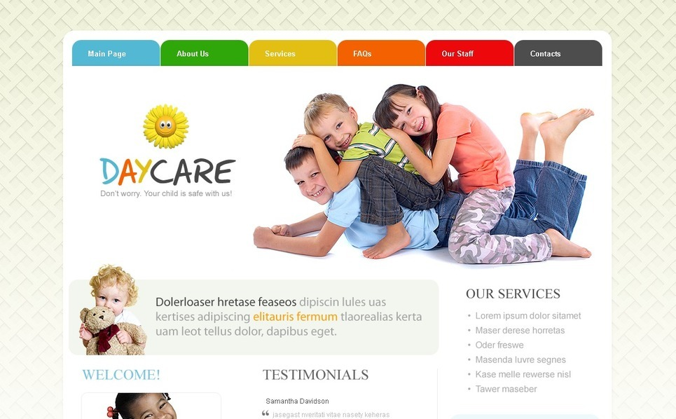 Template Photoshop  para Sites de Creche №54070 New Screenshots BIG