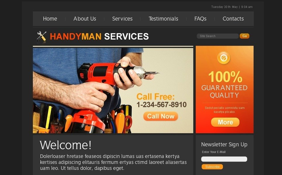 PSD Template over Woning reparatie  New Screenshots BIG