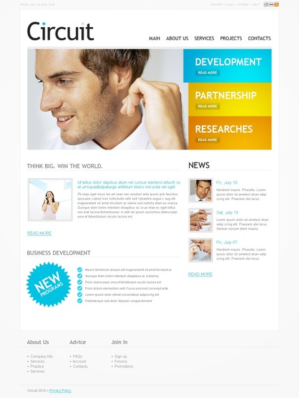 ADOBE Photoshop Template 54074 Home Page Screenshot