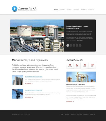 PSD макет сайта №54075
