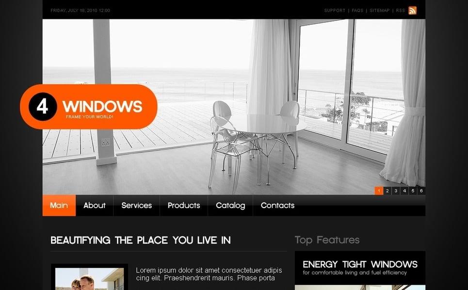 Modèle PSD  pour site d'entreprises de fenêtres New Screenshots BIG