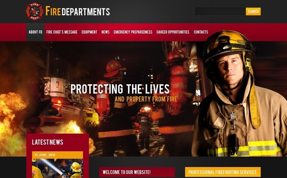 PSD Template over Brandweer  New Screenshots BIG
