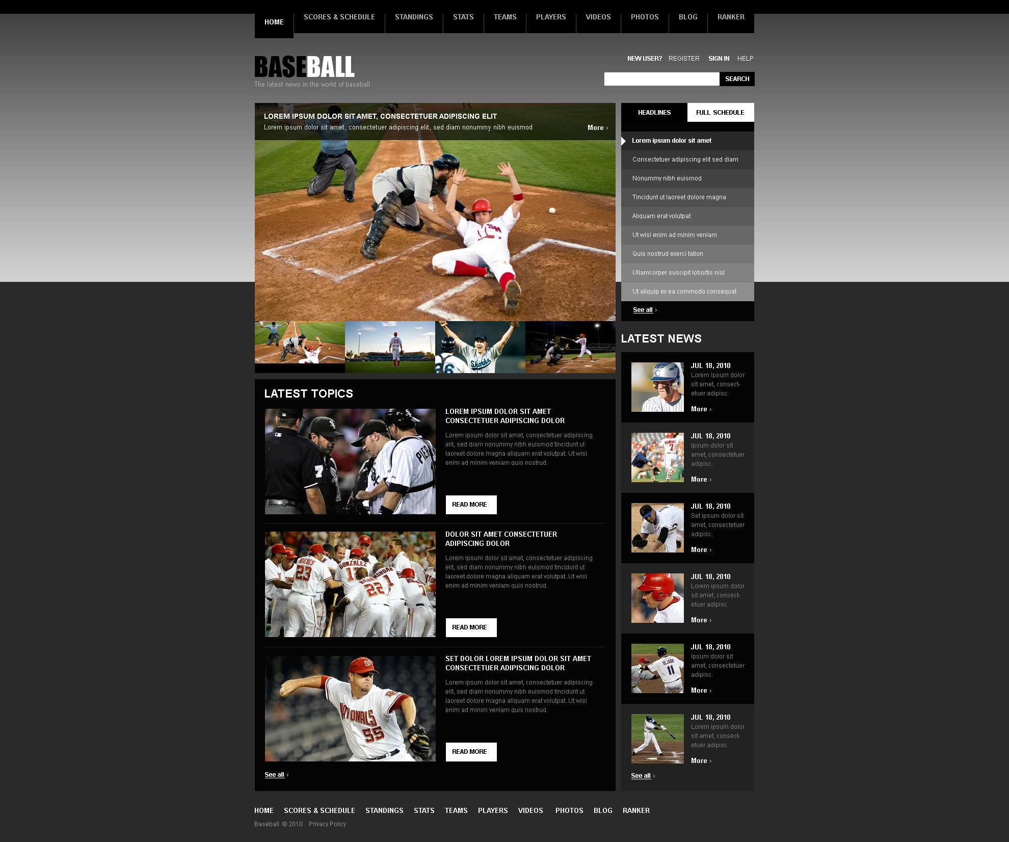 The Baseball Portal PSD Design 54081, one of the best PSD templates of its kind (sport, most popular, wide, jquery), also known as baseball portal PSD template, sport PSD template, score PSD template, championship PSD template, season PSD template, result PSD template, player PSD template, programs PSD template, photos PSD template, contacts PSD template, series PSD template, training PSD template, search PSD template, go PSD template, flash PSD template, tickets PSD template, info PSD template, video PSD template, latest news PSD template, official info PSD template, links PSD template, policy PSD template, contact PSD template, us PSD template, ball PSD template, kit PSD template, week PSD template, day PSD template, images PSD template, view PSD template, more PSD template, time and related with baseball portal, sport, score, championship, season, result, player, programs, photos, contacts, series, training, search, go, flash, tickets, info, video, latest news, official info, links, policy, contact, us, ball, kit, week, day, images, view, more, time, etc.