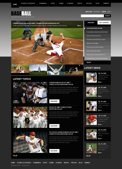 ADOBE Photoshop Template 54081 Home Page Screenshot