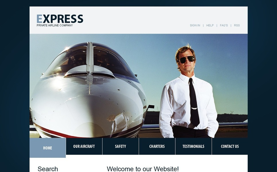 Repülőjegyek PSD sablon New Screenshots BIG