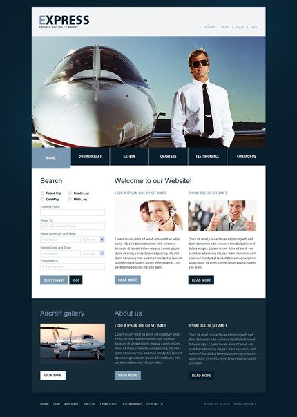 ADOBE Photoshop Template 54084 Home Page Screenshot