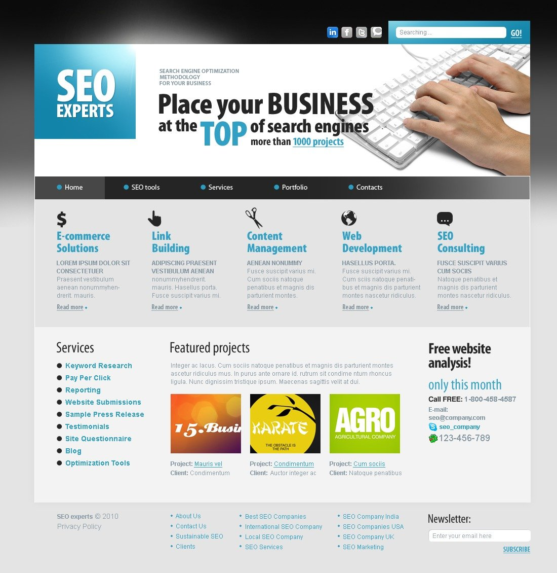 The SEO Agency Independent PSD Design 54087, one of the best PSD templates of its kind (business, internet, most popular, flash 8, wide), also known as SEO agency independent PSD template, experts PSD template, optimization PSD template, drupal company PSD template, marketing PSD template, advertising PSD template, tools PSD template, consulting PSD template, advertisement PSD template, consultation PSD template, success and related with SEO agency independent, experts, optimization, drupal company, marketing, advertising, tools, consulting, advertisement, consultation, success, etc.