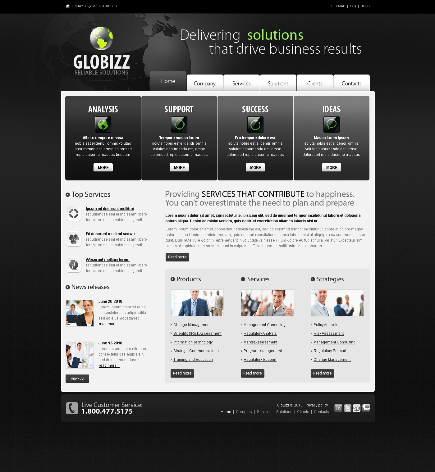 The Globizz Business Company PSD Design 54088, one of the best PSD templates of its kind (business, flash 8, wide), also known as globizz business company PSD template, corporate solutions PSD template, innovations PSD template, contacts PSD template, service PSD template, support PSD template, information dealer PSD template, stocks PSD template, team PSD template, success PSD template, money PSD template, marketing PSD template, director PSD template, manager PSD template, analytics PSD template, planning PSD template, limited PSD template, office PSD template, sales and related with globizz business company, corporate solutions, innovations, contacts, service, support, information dealer, stocks, team, success, money, marketing, director, manager, analytics, planning, limited, office, sales, etc.