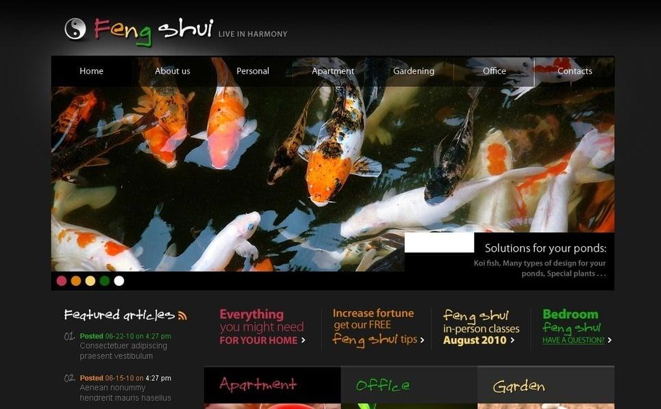 Modèle PSD  pour site de Feng Shui New Screenshots BIG