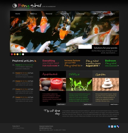 ADOBE Photoshop Template 54089 Home Page Screenshot