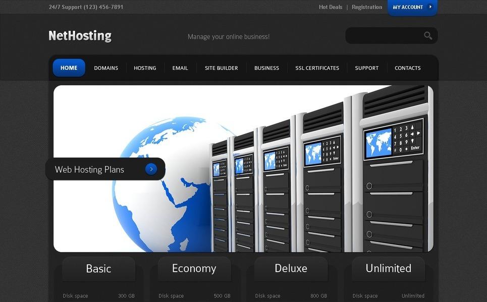 Modèle PSD  pour site de société d'hébergement New Screenshots BIG