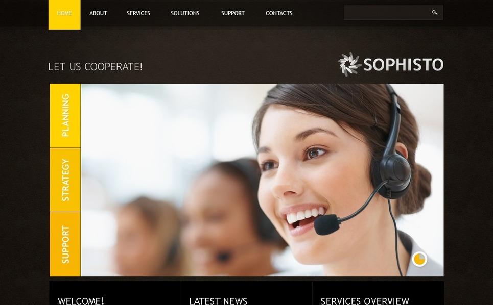 Modello PSD  #54092 per Un Sito di Business e Servizi New Screenshots BIG