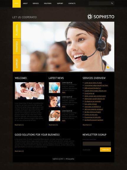 ADOBE Photoshop Template 54092 Home Page Screenshot